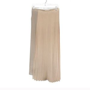 Maison Martin Margiela rose nude pleat skirt pants